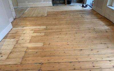 Old Pine Floorboards Sanded