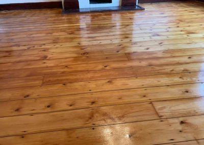 original pine floorboards, sanded